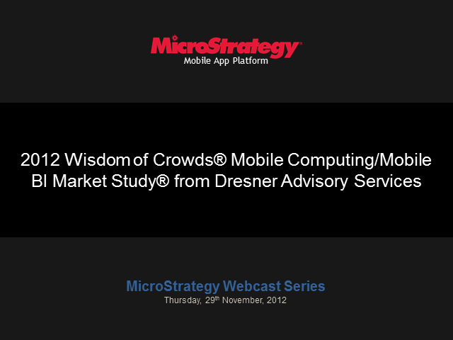 Howard Dresner Helps You Take Full Advantage of Mobile Computing