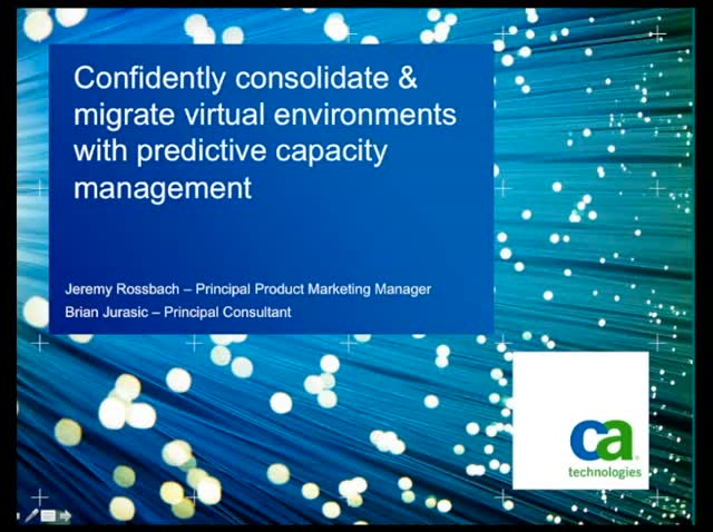 Confidently Consolidate & Migrate Virtual Environments with Capacity Management