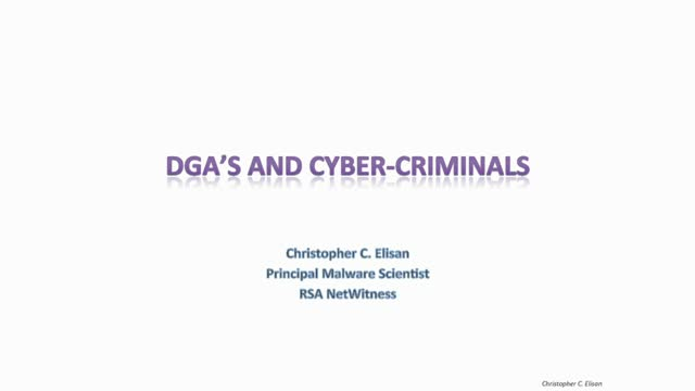 DGA's and Cyber-Criminals