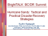 Hurricane Sandy - Tactical and Practical Disaster Recovery Strategies