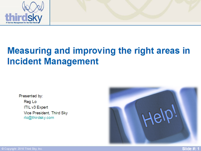 Measuring and improving the right areas in Incident Management