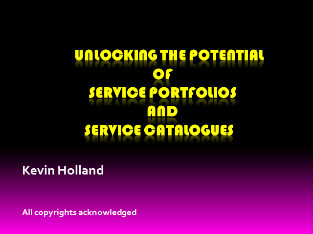 Unlocking the Potential of Service Portfolios and Service Catalogues