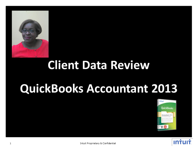 Client Data Review with QuickBooks Accountant