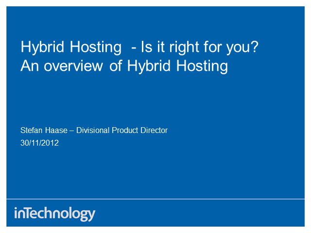 Hybrid Hosting - Is it right for you?