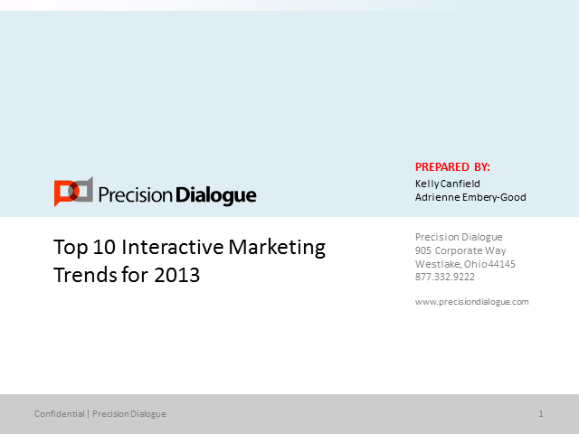 Top 10 Interactive Marketing Trends for 2013