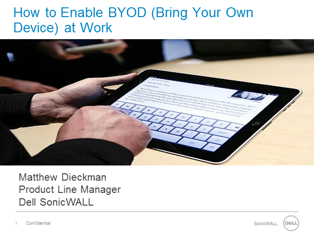 How to Enable Secure Access  for BYOD at Work