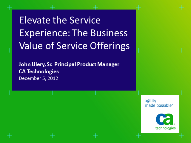 Elevate the Service Experience: The Business Value of Service Offerings