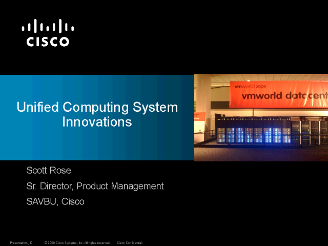 Unified Computing System Innovations