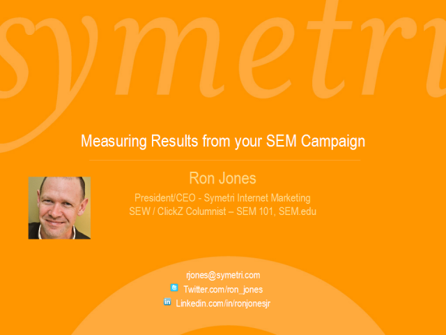 Measuring Results from your Search Engine Marketing Campaign