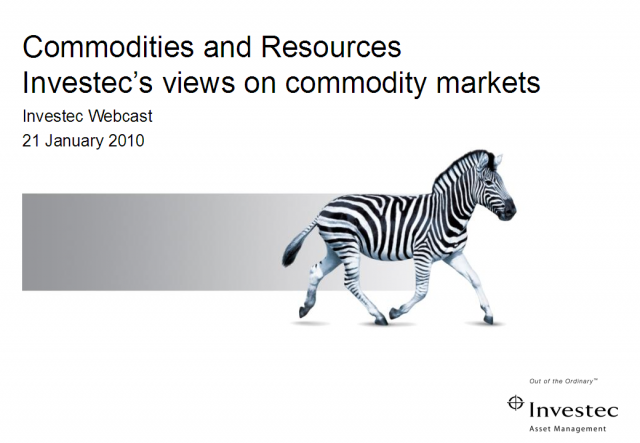 Commodities in 2010
