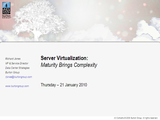 Server Virtualization:  Maturity Brings Complexity