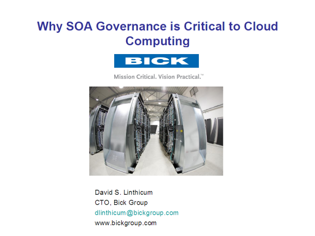 Why SOA Governance is Critical to Cloud Computing