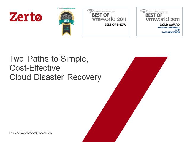 Two Paths to Simple, Cost-Effective Cloud Disaster Recovery