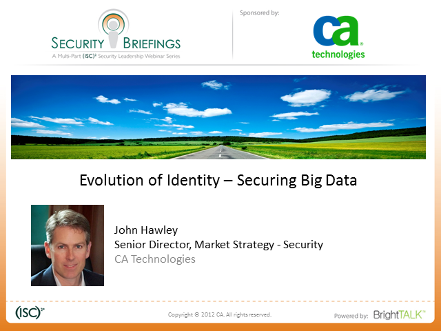Identity is the New Perimeter part 6: ­ Big Data and Identity