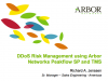Product Demo: Arbor Networks DDoS Risk Management Using Peakflow SP and TMS
