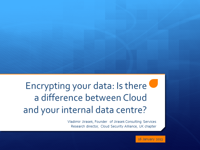 Encryption: Is There a Difference Between Cloud and Internal Data?