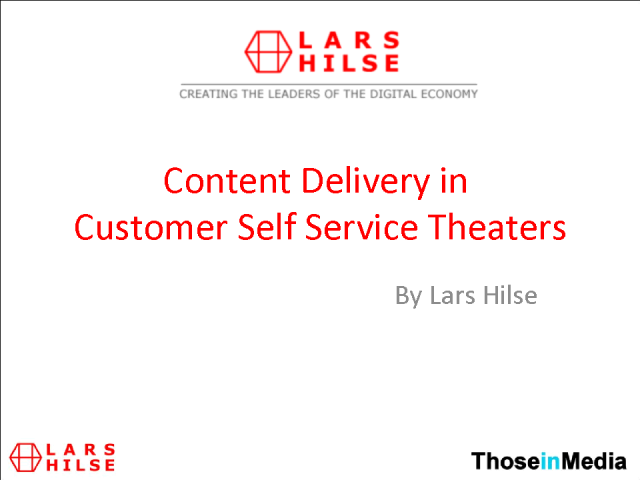 Content Delivery in Customer Self Help Theaters