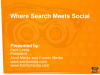 Search Meets Social: Increase Visibility & Sales via Integration