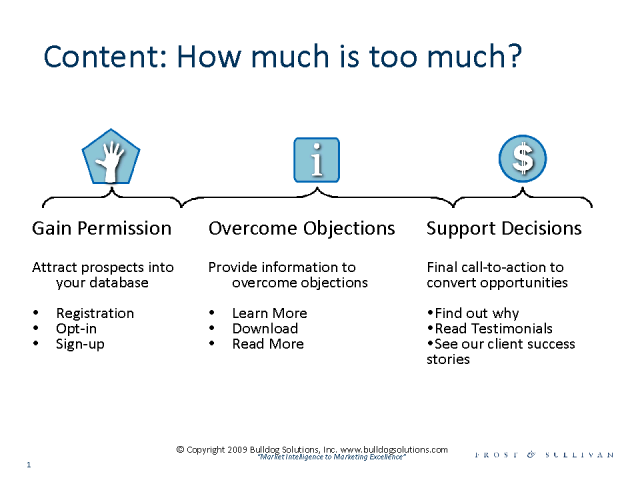 Managing Content to Avoid Information Overload