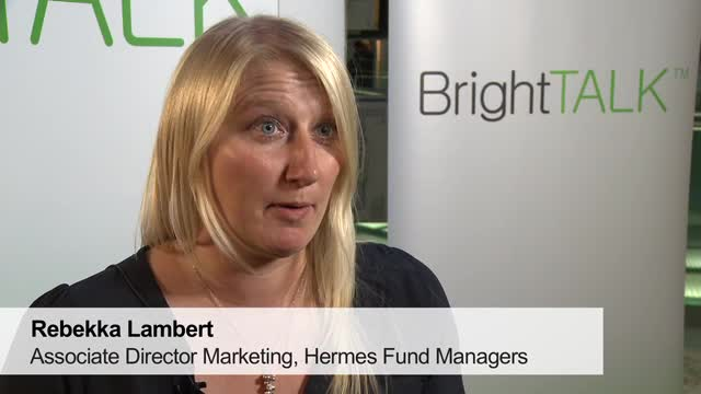 Rebekka Lambert from Hermes Fund Managers - short marketing interview