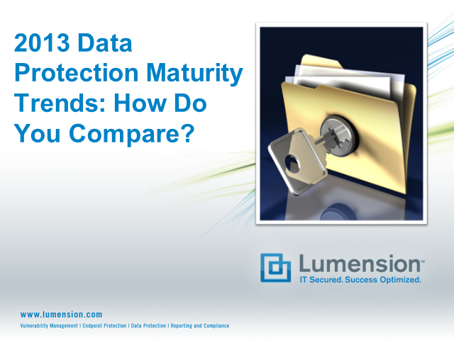 2013 Data Protection Maturity Trends.  How Do You Compare?