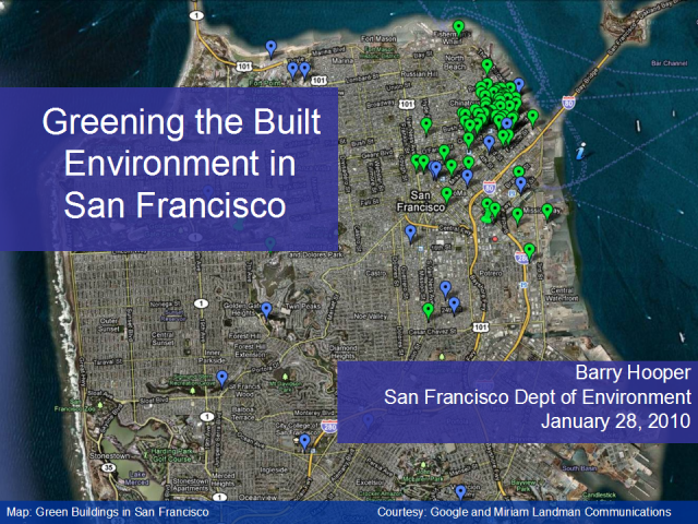 Greening the Built Environment in San Francisco