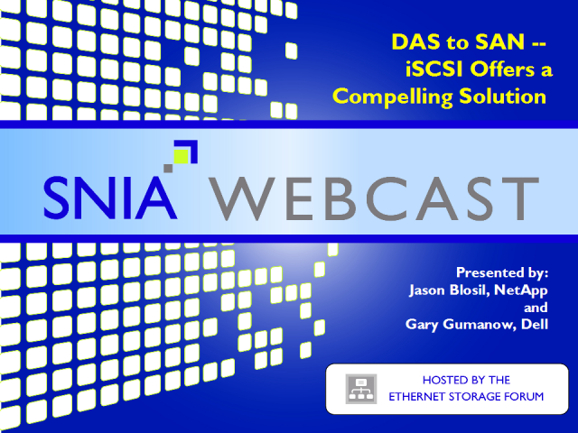 DAS to SAN – iSCSI offers a compelling solution