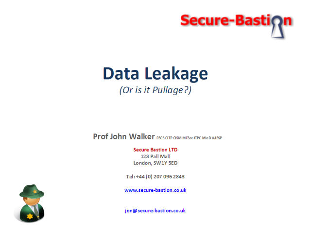 Data Leakage - in the 'Real World'