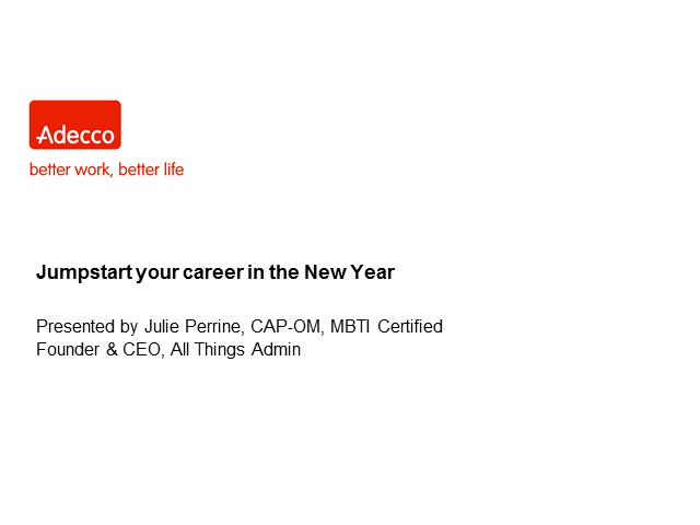 Jump start your career in the New Year