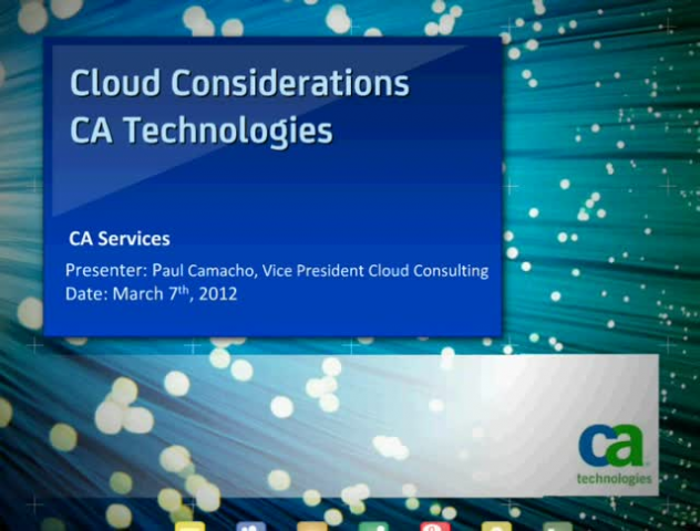 Cloud Considerations
