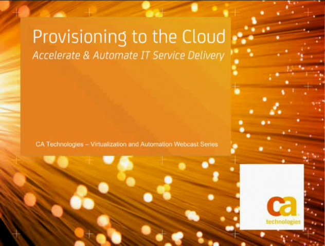Provision to the Cloud