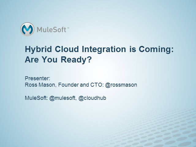 Hybrid Cloud Integration is Coming: Are You Ready?