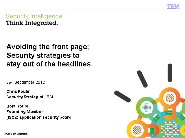 Avoiding the Front Page; Security Strategies to Stay Out of the Headlines