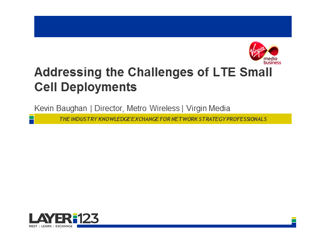 Addressing the Challenges of LTE Small Cell Deployments