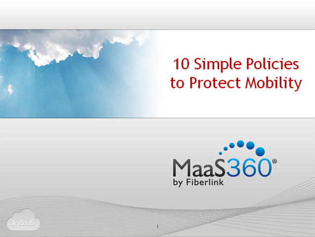 10 Simple Policies to Protect Mobility