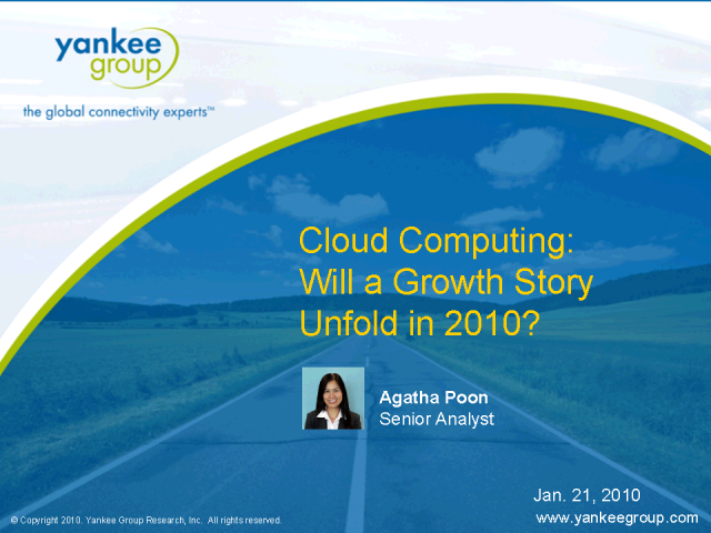 Cloud Computing: Will a Growth Story Unfold in 2010?
