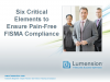 Six Critical Elements to Ensure Pain-Free FISMA Compliance
