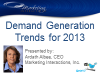Demand Generation Trends for 2013