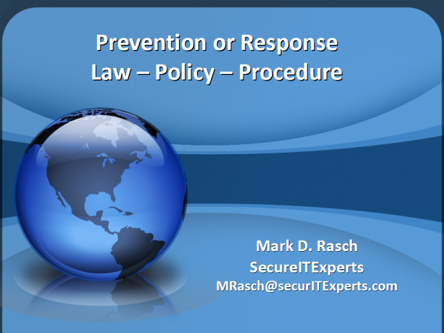 Prevention or Response; Law – Policy – Procedure