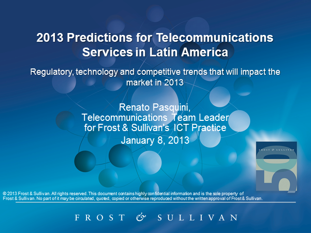 2013 Predictions for Telecom Services in Latin America