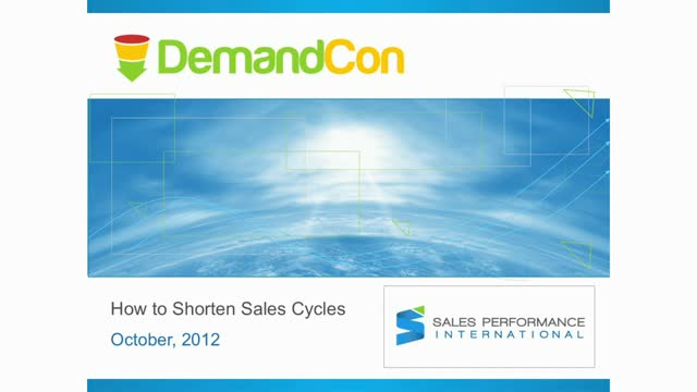 Sales Program – How to Shorten Sales Cycles