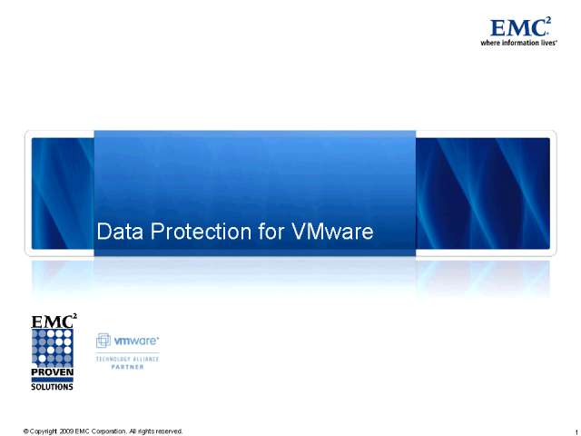 Data Protection in a Virtualized Environment