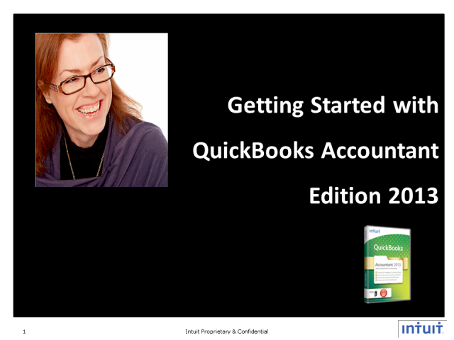 Getting Started with QuickBooks Accountant 2013 -The Basics Part 1