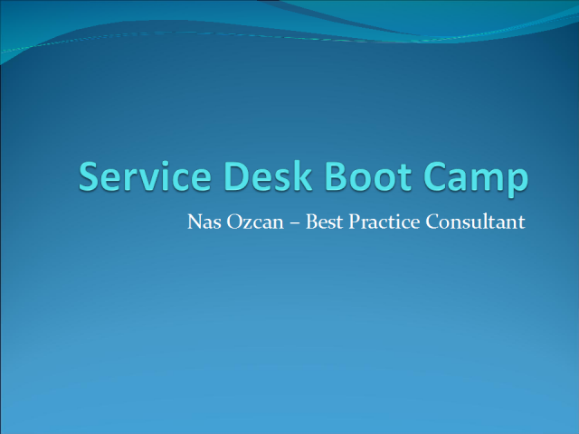 Service Desk Boot Camp