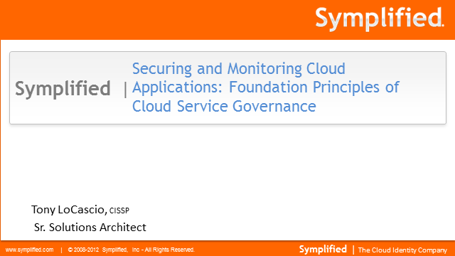 Securing and Monitoring Cloud Applications