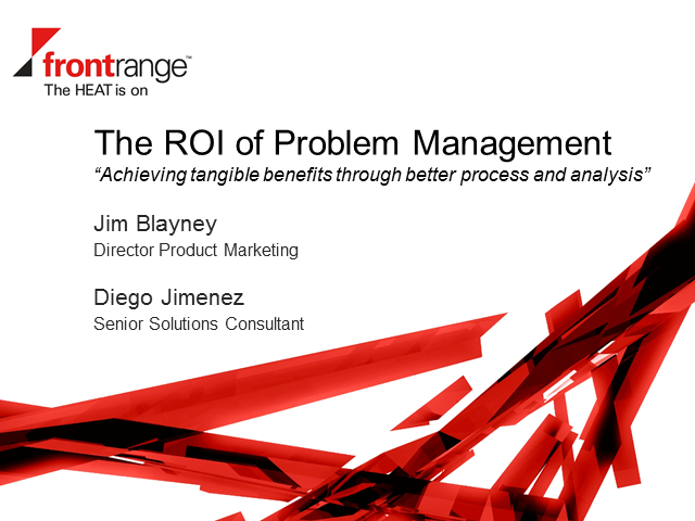 The ROI of Problem Management