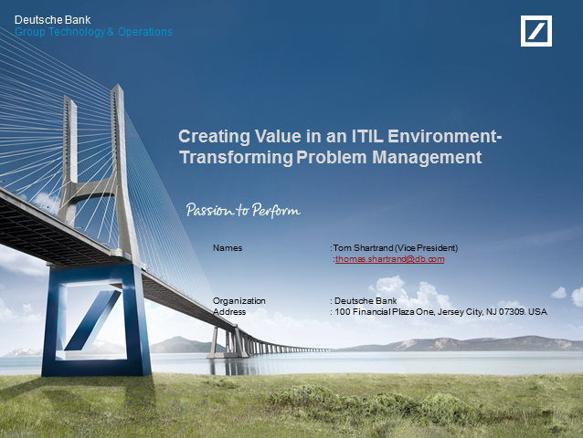 Creating Value in an ITIL Environment - Transforming Problem Management