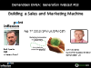 How to Build a Sales and Marketing Machine