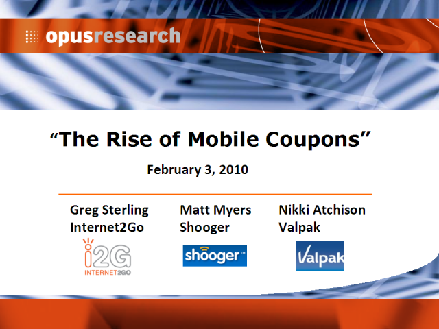The Rise of Mobile Coupons
