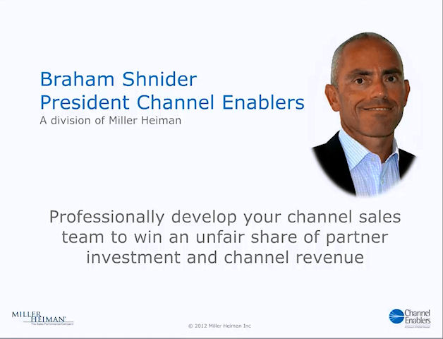 Professionally develop your channel sales team